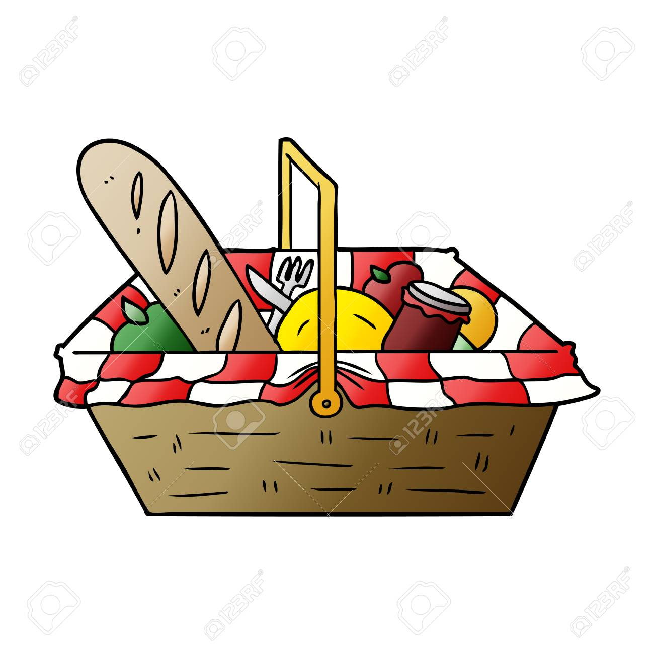 Cartoon Picnic Basket Royalty Free Cliparts Vectors And Stock Illustration Image 95739673