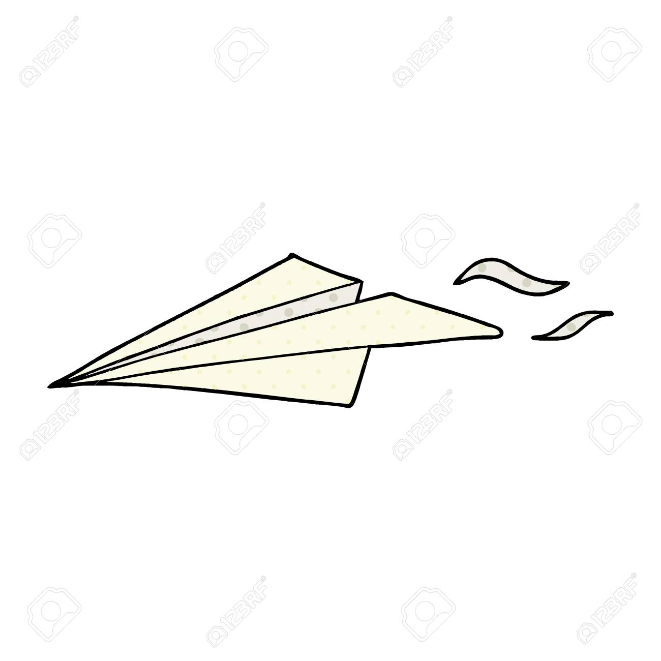 cartoon paper airplane isolated on white background royalty free rh 123rf com cartoon paper plane Cartoon Throwing Paper Airplane Drawing