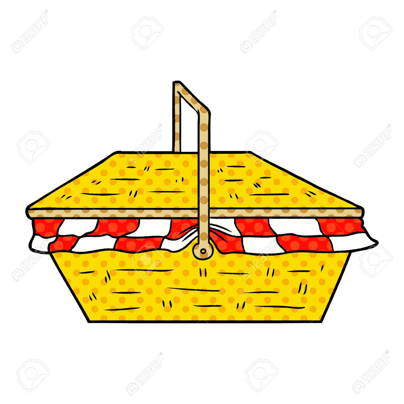 Cartoon Picnic Basket Royalty Free Cliparts Vectors And Stock Illustration Image 95585172