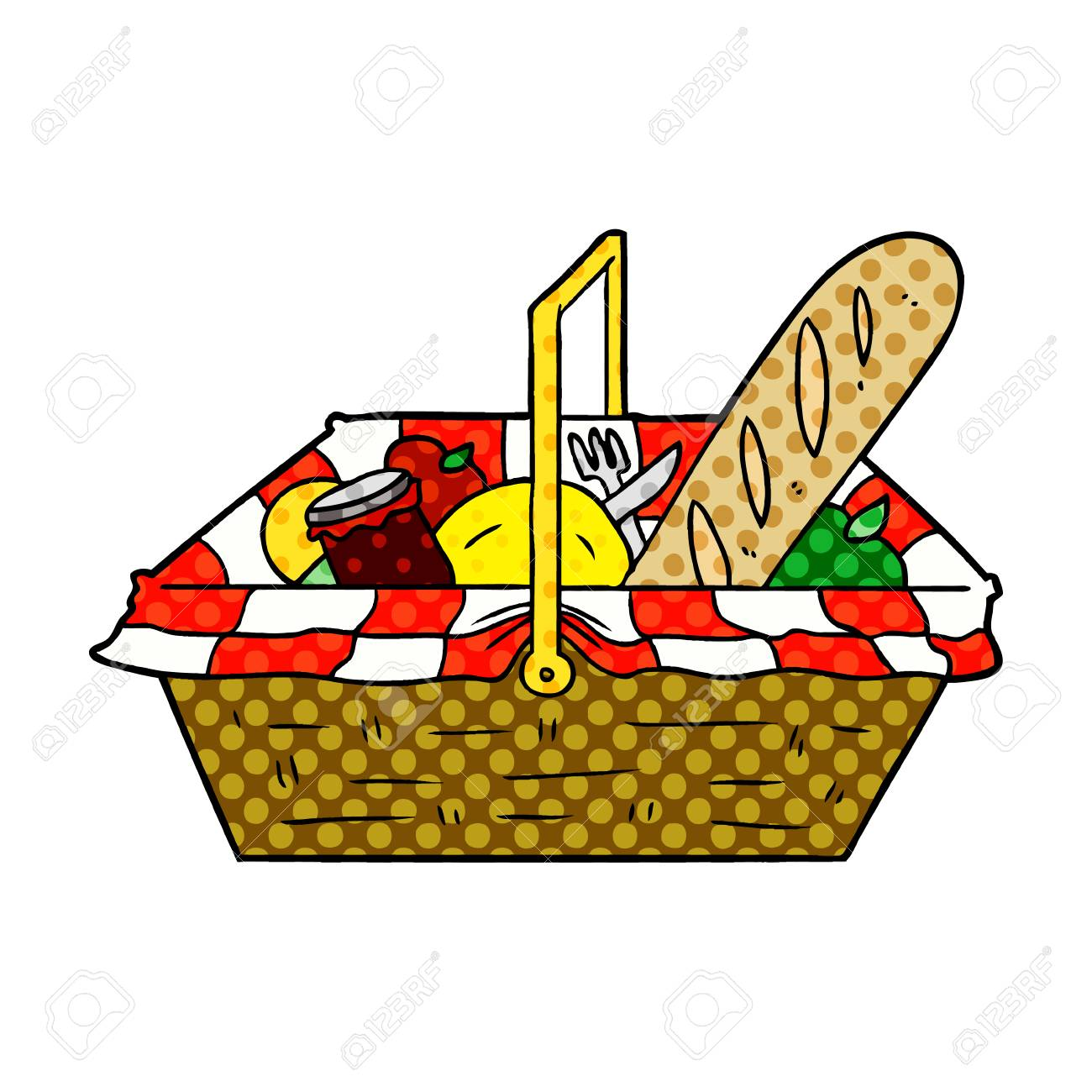 Cartoon Picnic Basket Royalty Free Cliparts Vectors And Stock Illustration Image 95588916