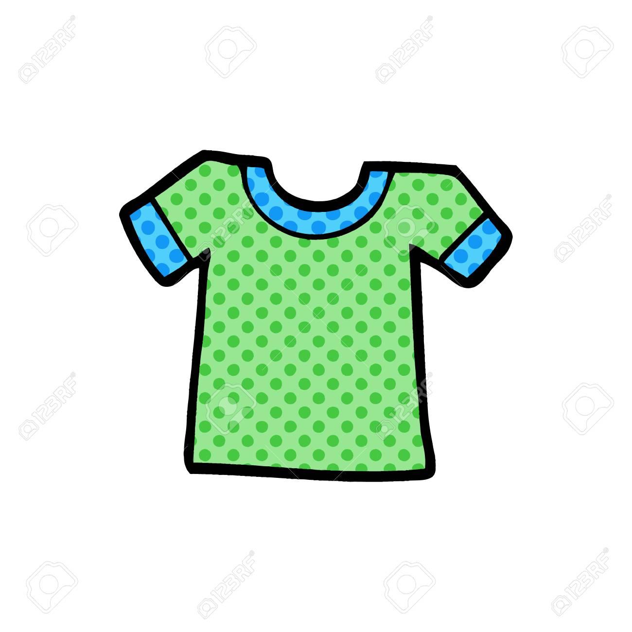 936980c69 Cartoon tee shirt illustration on white background. Stock Vector - 95663933