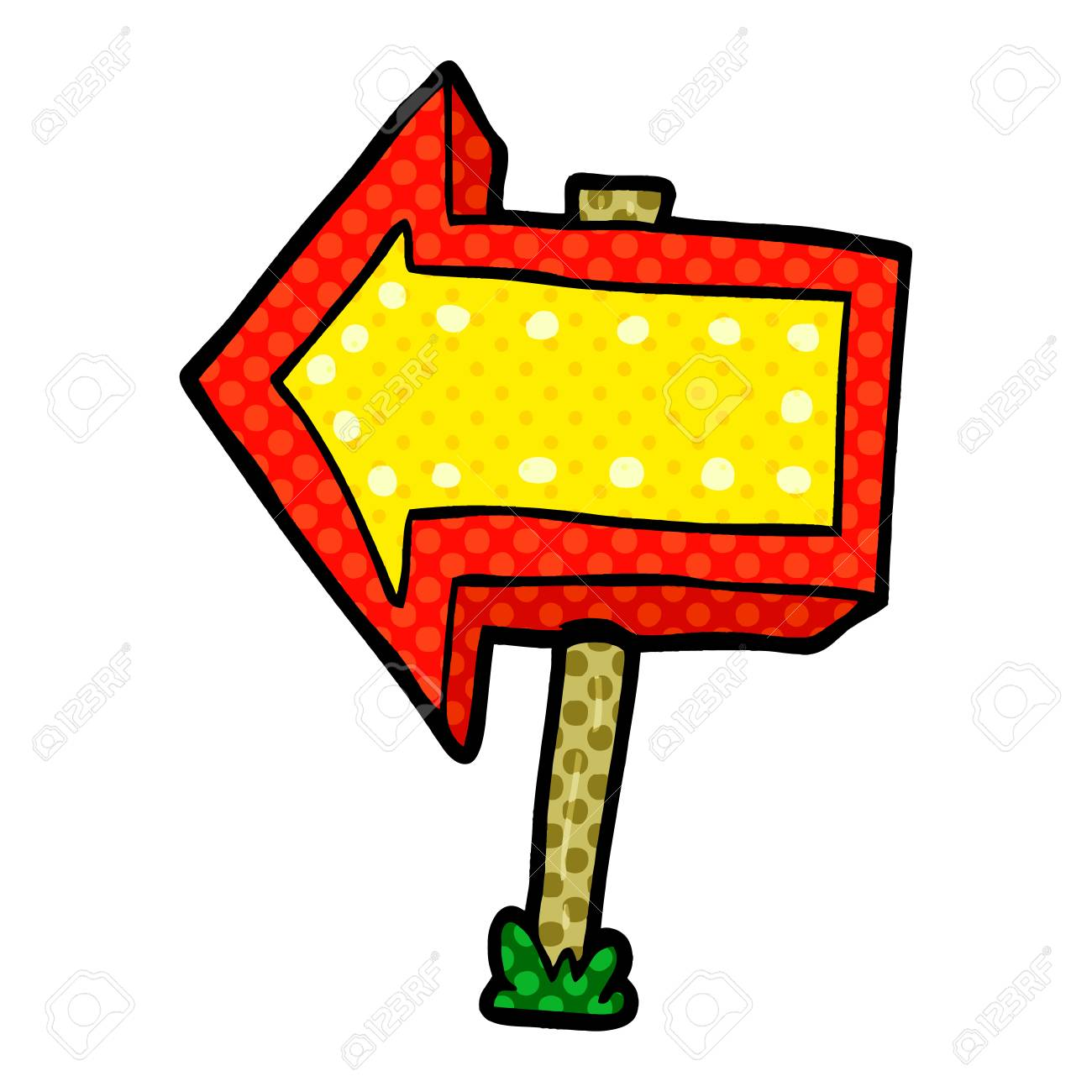 cartoon pointing arrow sign royalty free cliparts vectors and