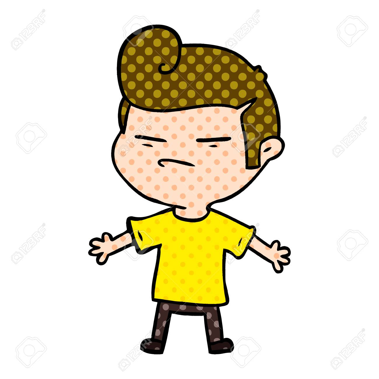 cartoon cool guy with fashion hair cut royalty free cliparts