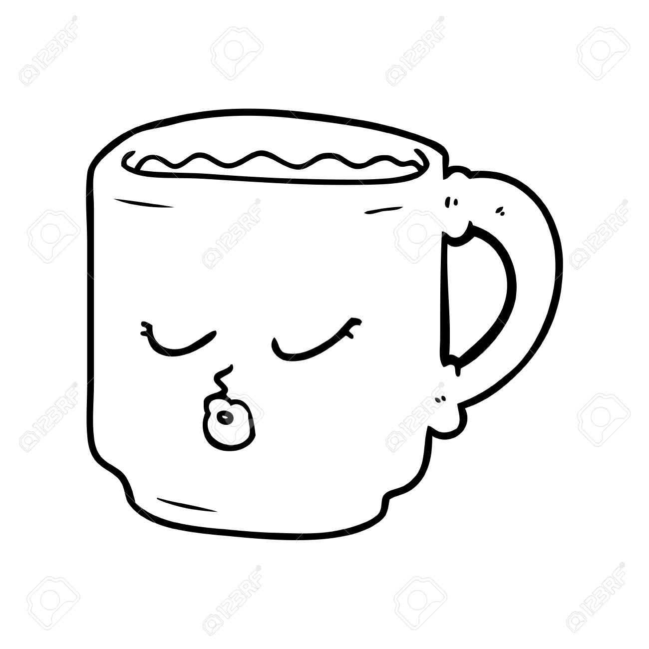 Hand Drawn Cartoon Coffee Mug Royalty Free Cliparts Vectors And Stock Illustration Image 95761570