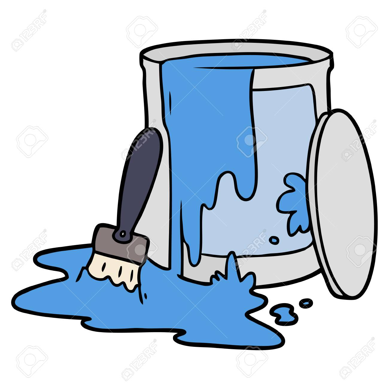 Cartoon Paint Bucket Illustration On White Background Royalty Free Cliparts Vectors And Stock Illustration Image 95800110