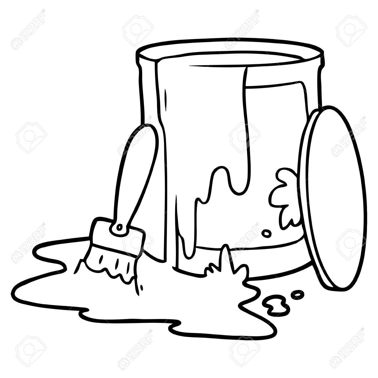 Cartoon Paint Bucket Illustration On White Background Royalty Free Cliparts Vectors And Stock Illustration Image 96669554