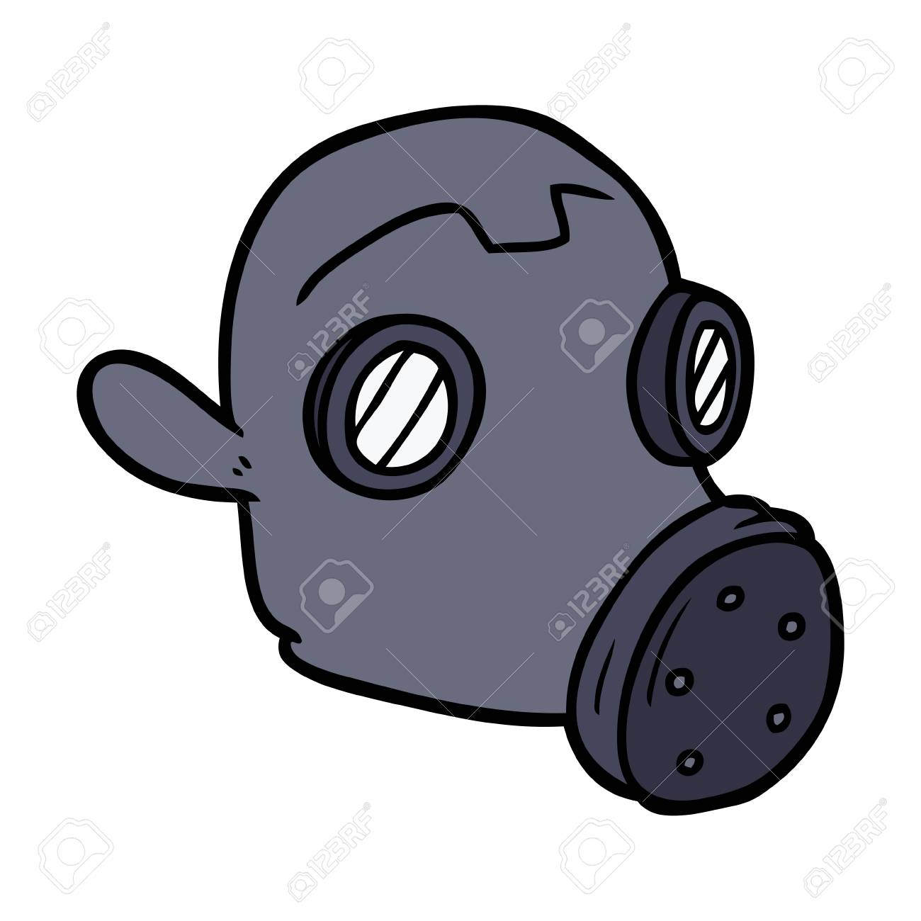 cartoon gas mask vector illustration royalty free cliparts vectors rh 123rf com cartoon gas mask ww1 cartoon pic of gas mask