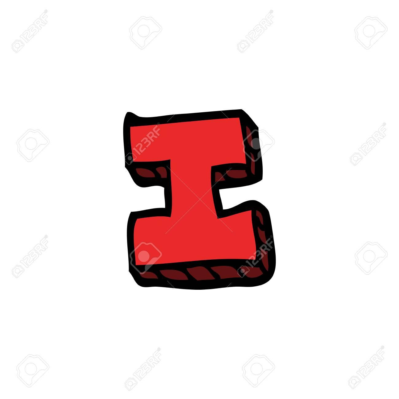 cartoon doodle letter i - 110854340