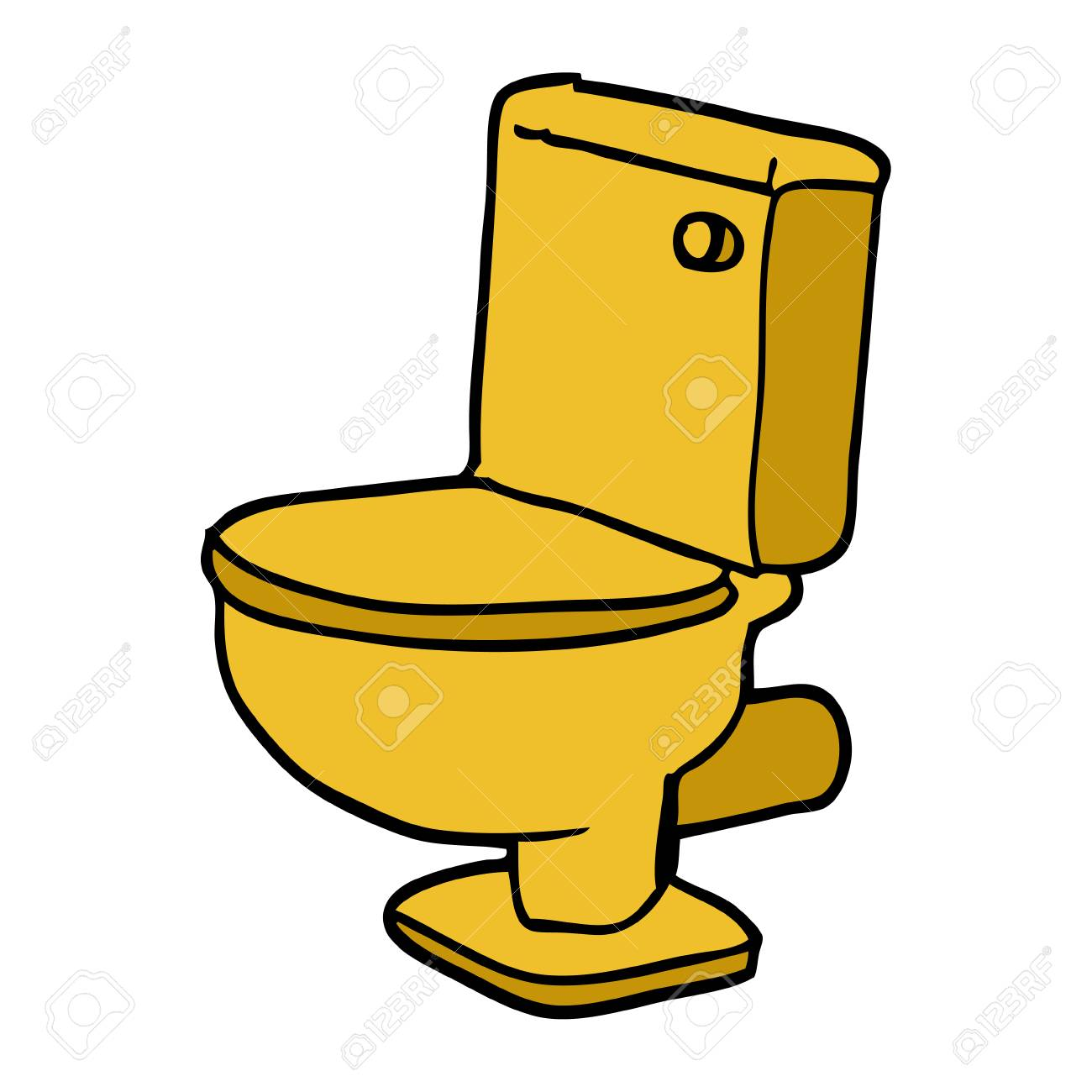 Cartoon Doodle Golden Toilet Royalty Free Cliparts Vectors And Stock Illustration Image 110866736