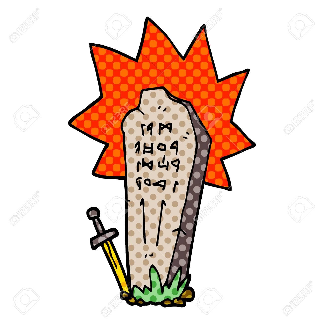 cartoon doodle heros grave - 110924955
