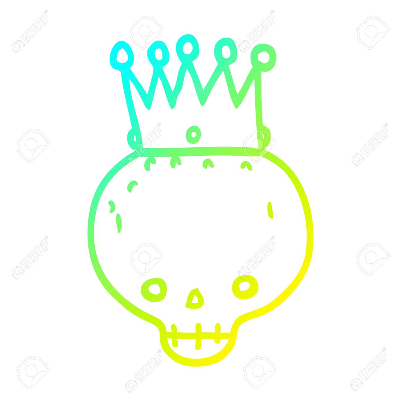 Cold Gradient Line Drawing Of A Cartoon Skull With Crown Royalty Free Cliparts Vectors And Stock Illustration Image 129836124 Regis toomey as bob franklin posing as rocky morgan. cold gradient line drawing of a cartoon skull with crown royalty free cliparts vectors and stock illustration image 129836124
