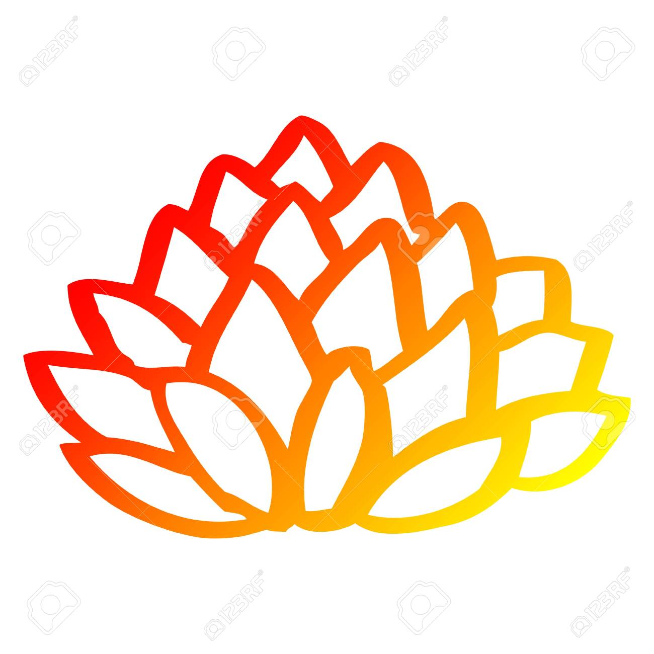 Warm Gradient Line Drawing Of A Cartoon Pile Of Leaves Royalty Free Cliparts Vectors And Stock Illustration Image 130180973