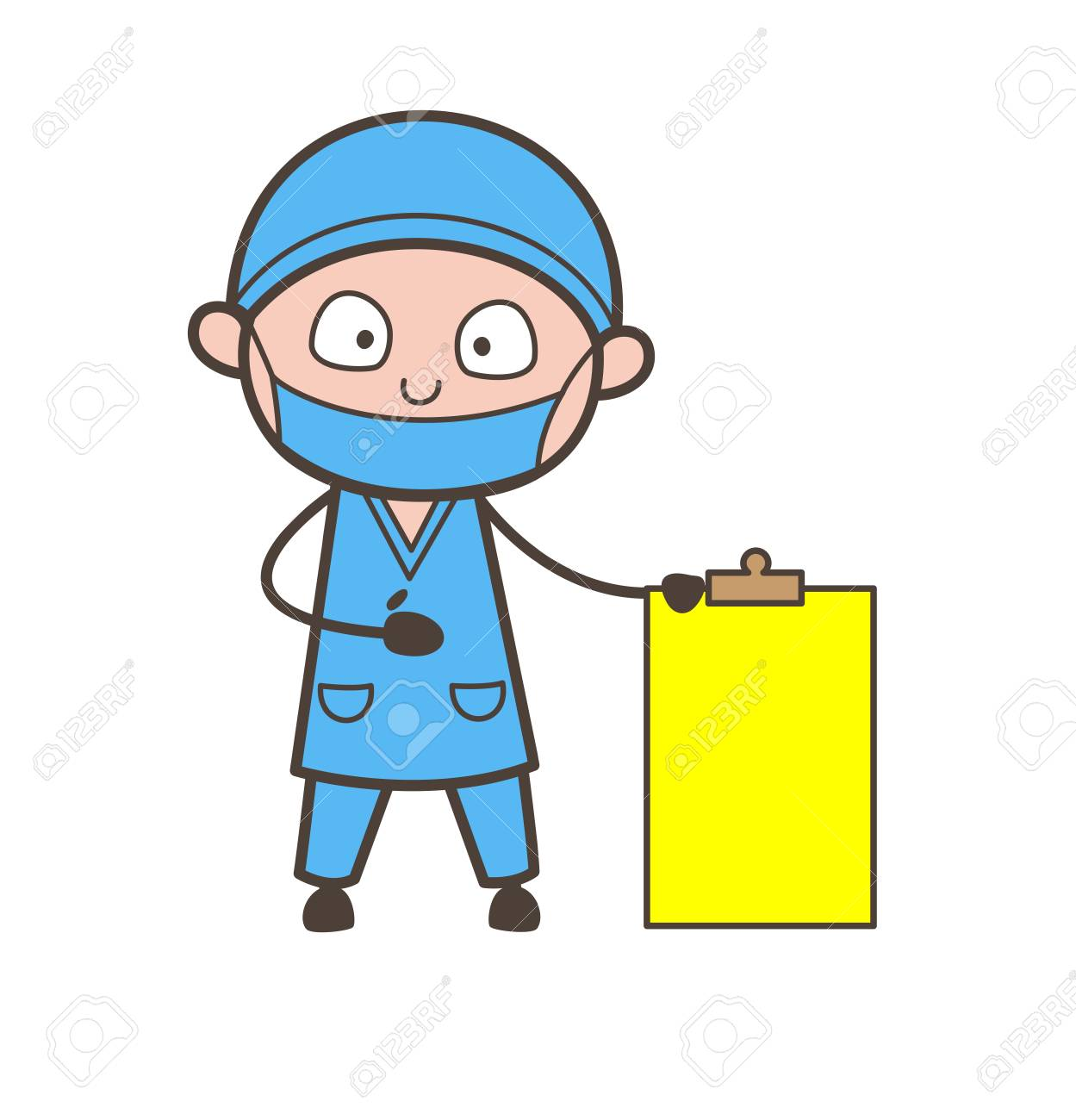 Cartoon Therapist Showing A Blank Cardboard Vector Royalty Free Cliparts Vectors And Stock Illustration Image 84478716