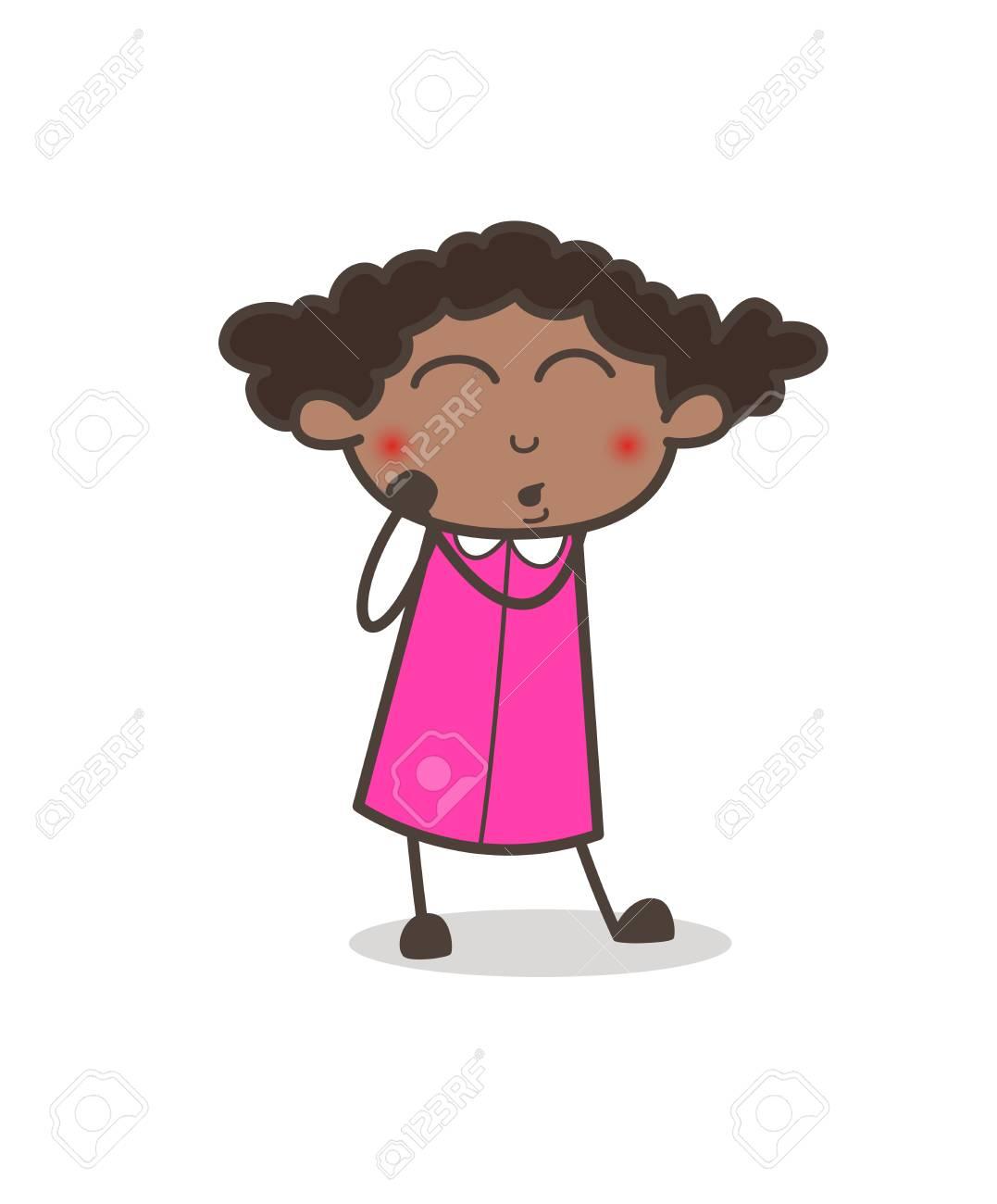 罪のないかわいい女の子イラストのイラスト素材ベクタ Image 88295219