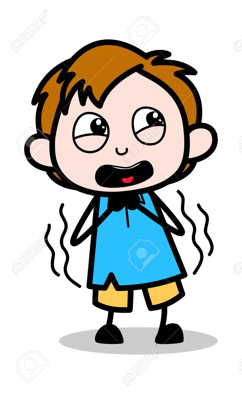 scared school boy cartoon character vector illustration royalty free cliparts vectors and stock illustration image 121688810 scared school boy cartoon character vector illustration