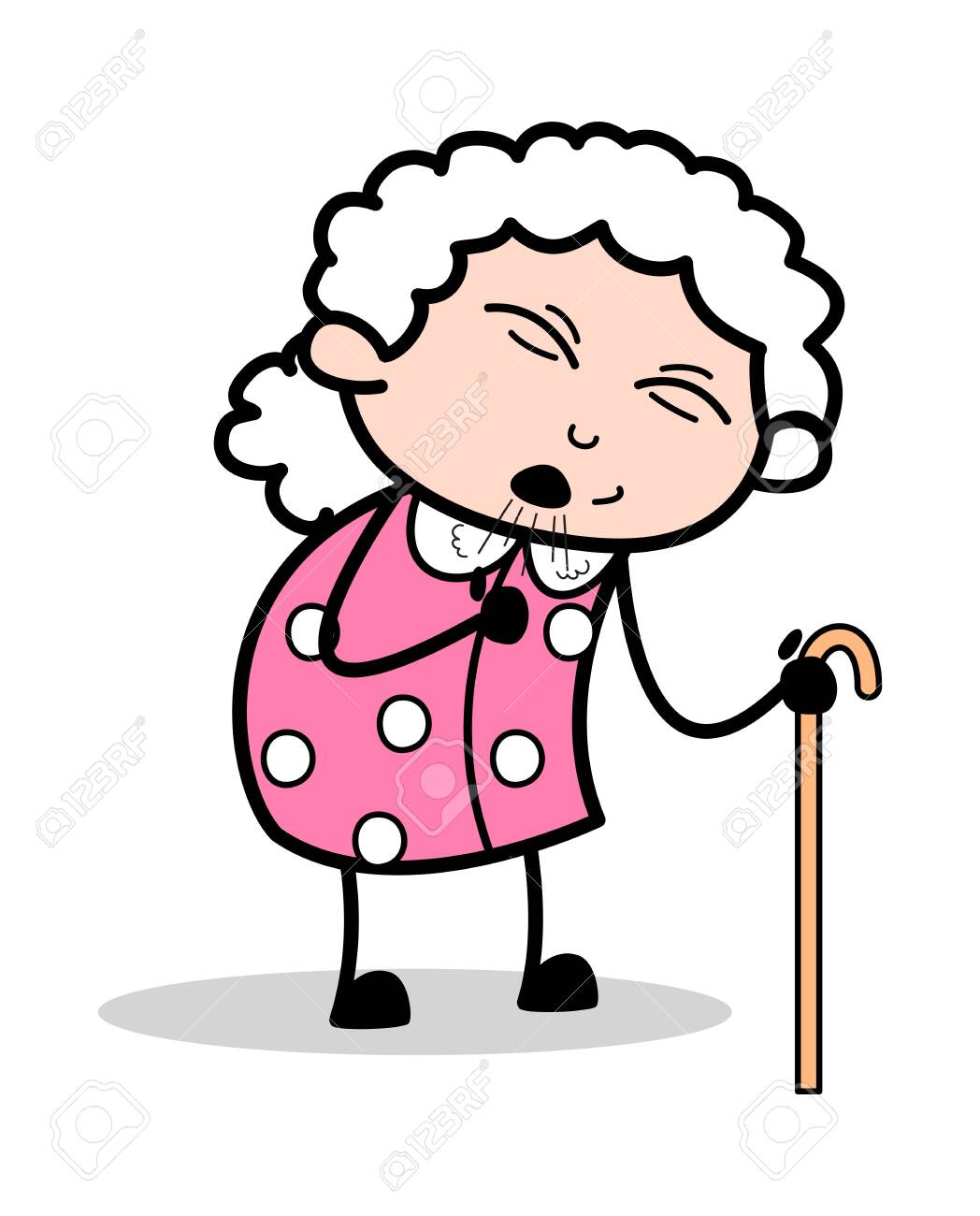 cough old woman cartoon granny vector illustration royalty free cliparts vectors and stock illustration image 123750523 cough old woman cartoon granny vector illustration