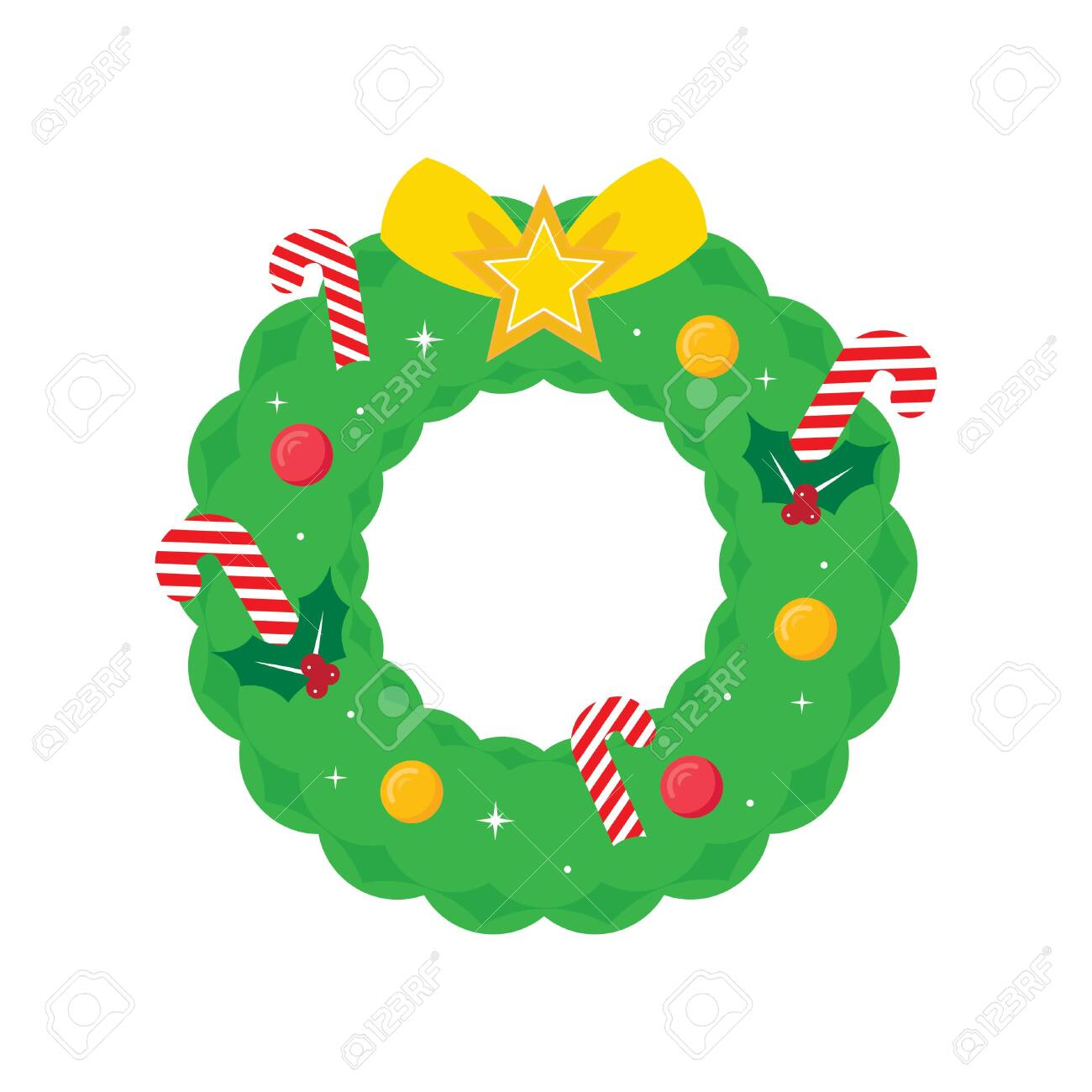 Christmas Holiday Wreath Vector Illustration Icon Background Royalty Free Cliparts Vectors And Stock Illustration Image 152436423