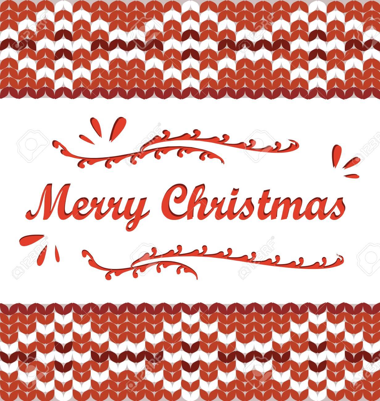 Feliz Navidad. Patrón De Punto De Estilo Escandinavo Feliz Navidad ...