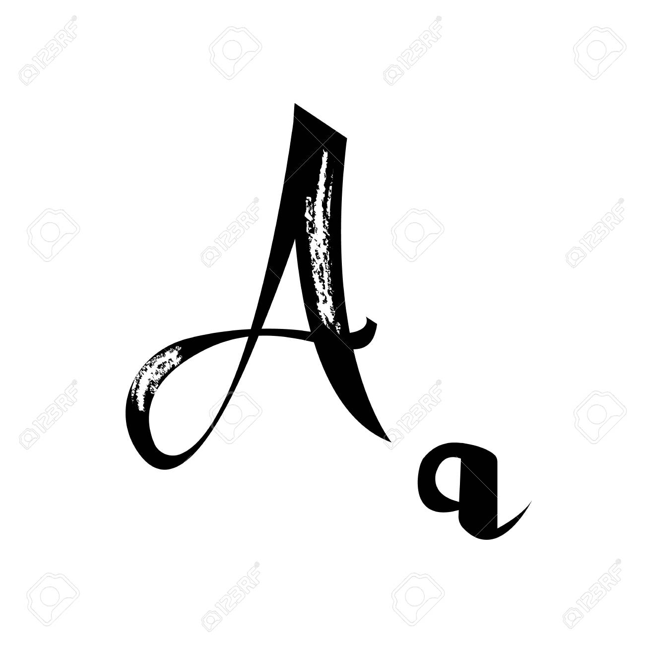 Police De Manuscrit Manuscrit. Lettre B Alphabet Calligraphie ...