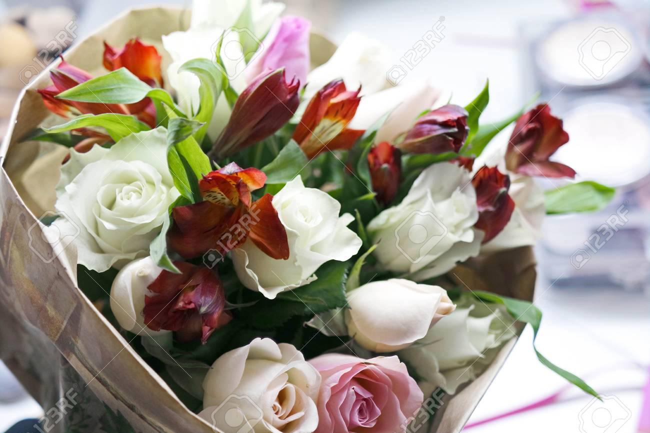 Very beautiful bouquet of flowers festive colorful bouquet stock stock photo very beautiful bouquet of flowers festive colorful bouquet izmirmasajfo
