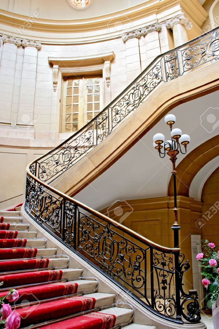 Stairwell in a Polish palace  An old architecture  Stock Photo - 13162078