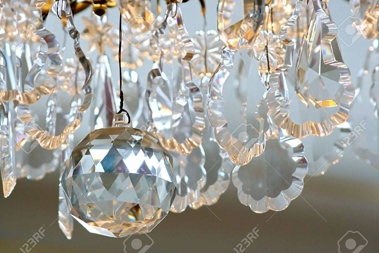 Crystal background  Detail of chandelier Stock Photo - 14200215