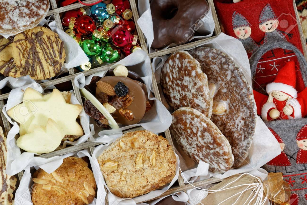 Christmas Cookies Felt Ornaments And Christmas Angel Closeup