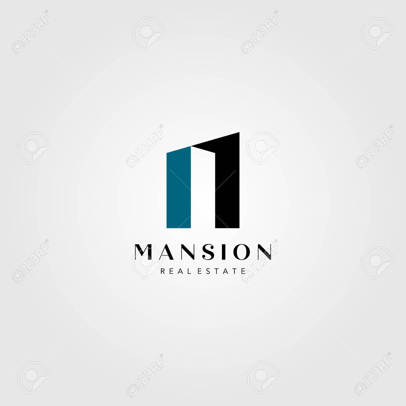 real estate building logo mansion number one vector illustration - 146209609