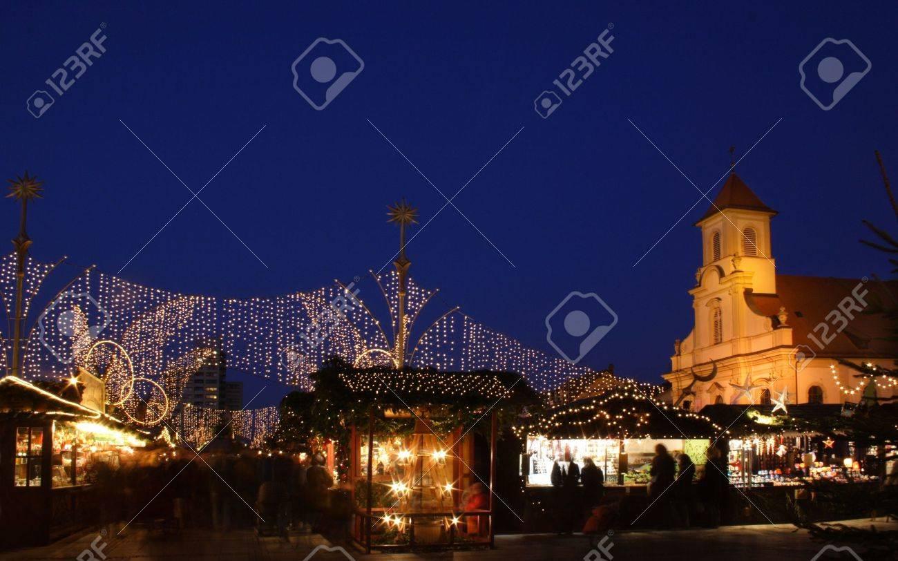 German christmas market at night Stock Photo - 1887699