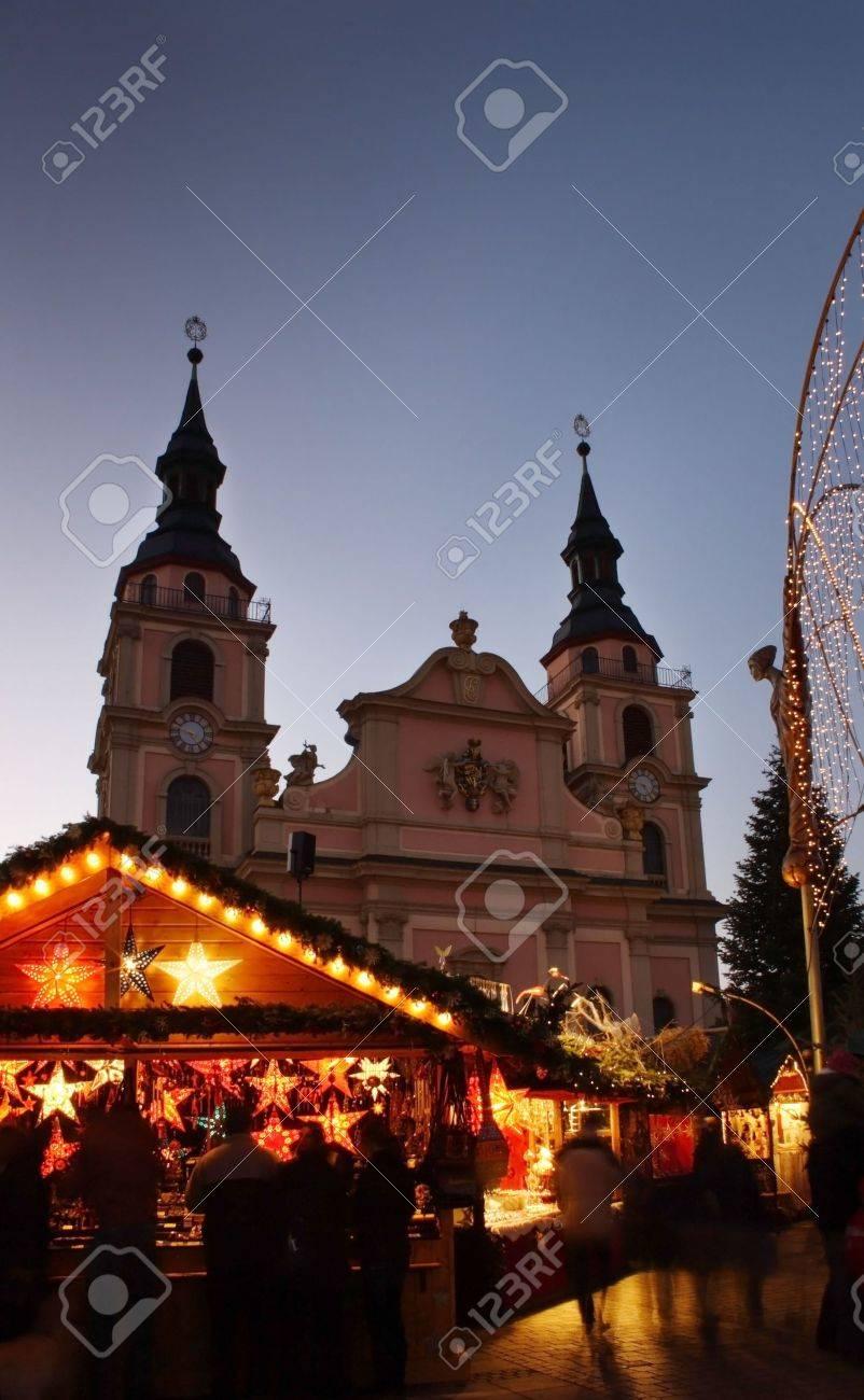 German christmas market with church Stock Photo - 2086756