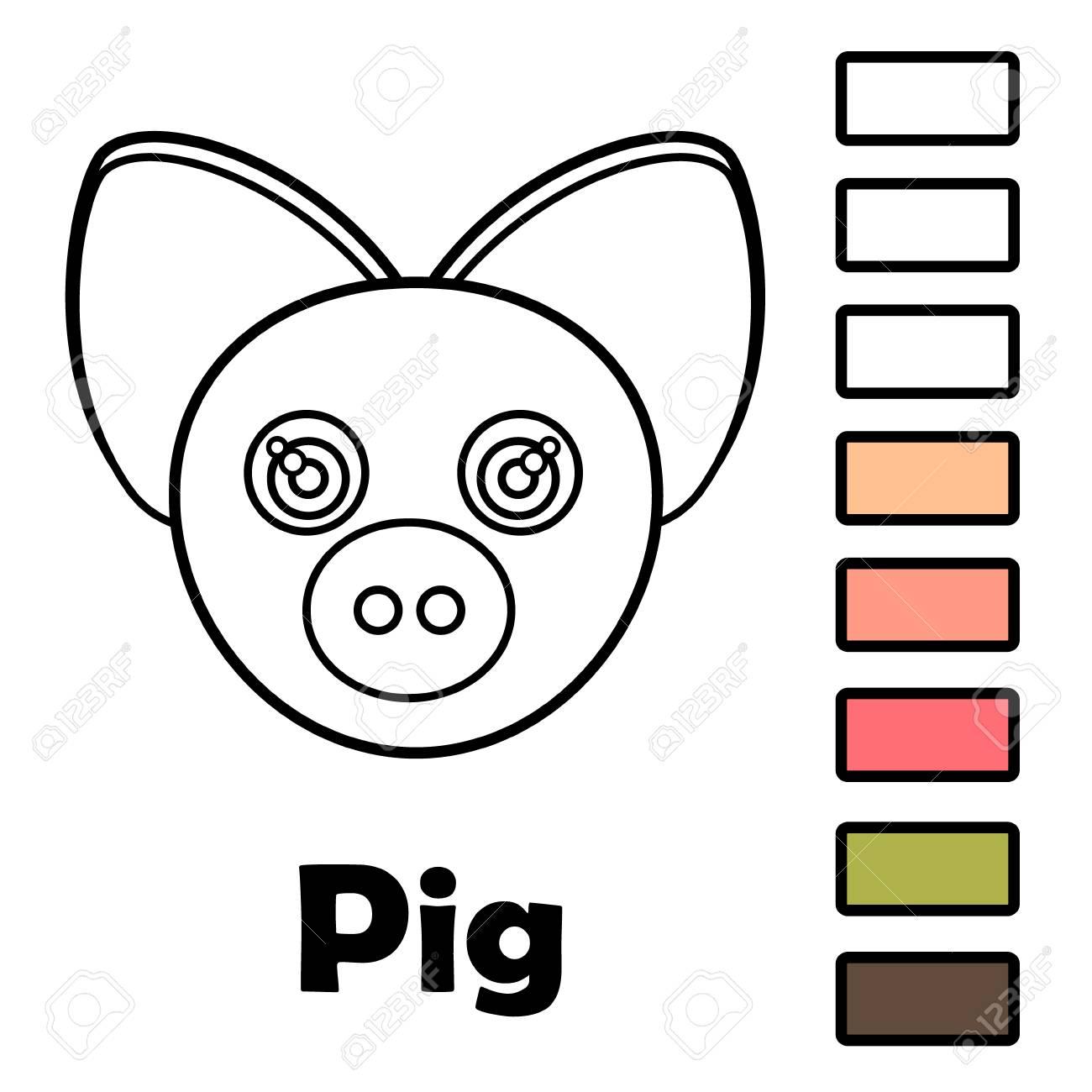 Libro Para Colorear Para Niños Pequeños Con Animales Una Madre Con
