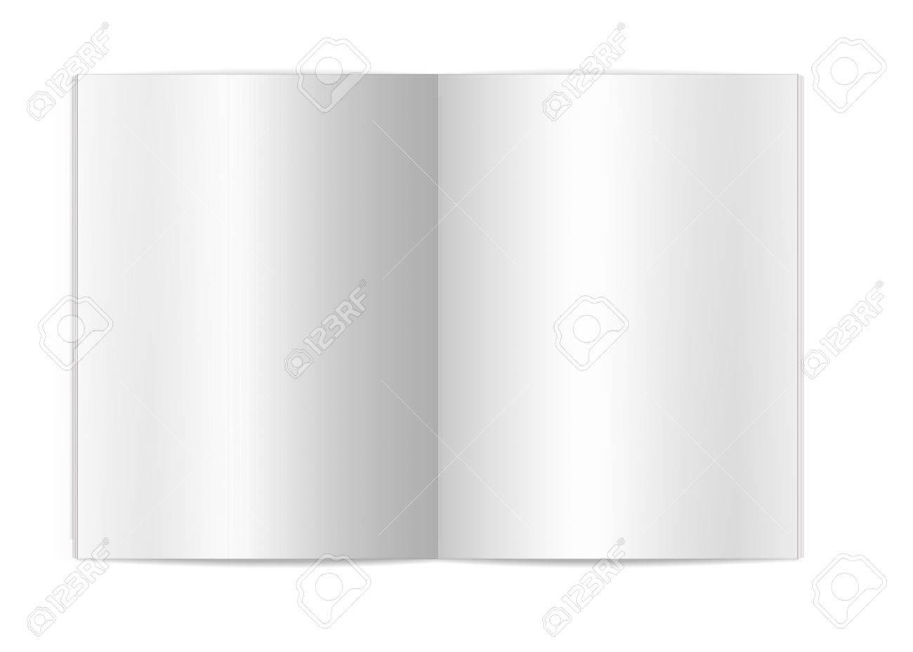 Isolierte Weißen Hintergrund Leer Buch Seiten Für Vorlage Und ...
