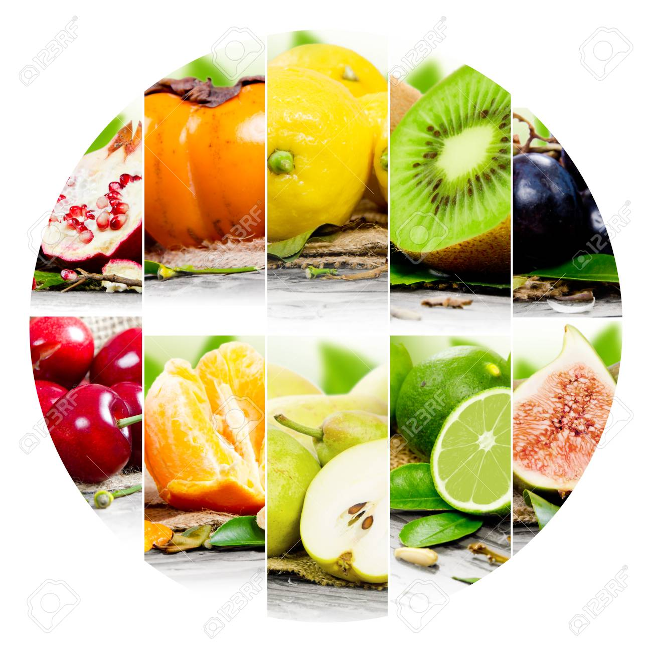 Photo Of Colorful Fruit Mix With Circle Shape