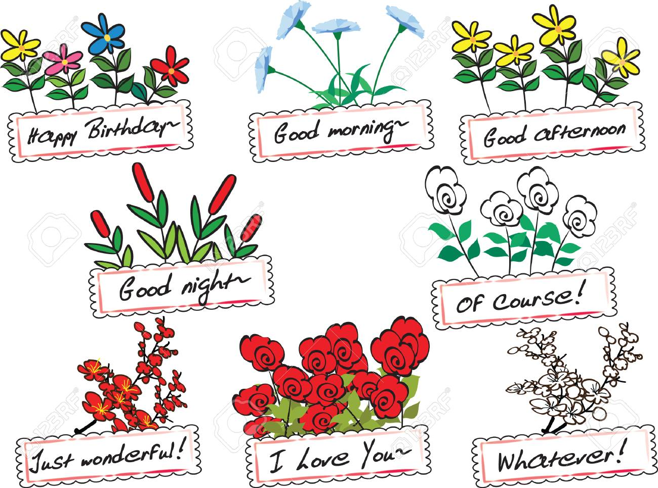 Flower Greeting Card Royalty Free Cliparts Vectors And Stock