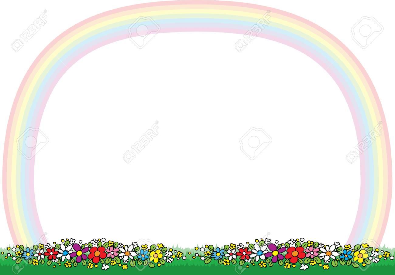 rainbow border vector illustration royalty free cliparts vectors