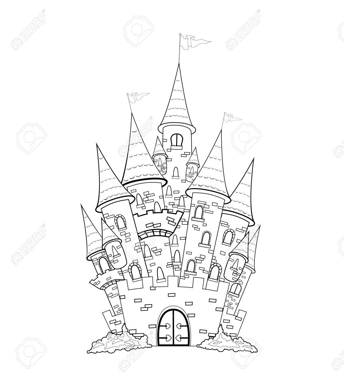 Outline Sketch Of The Castle The Outlines Of The Castle On A