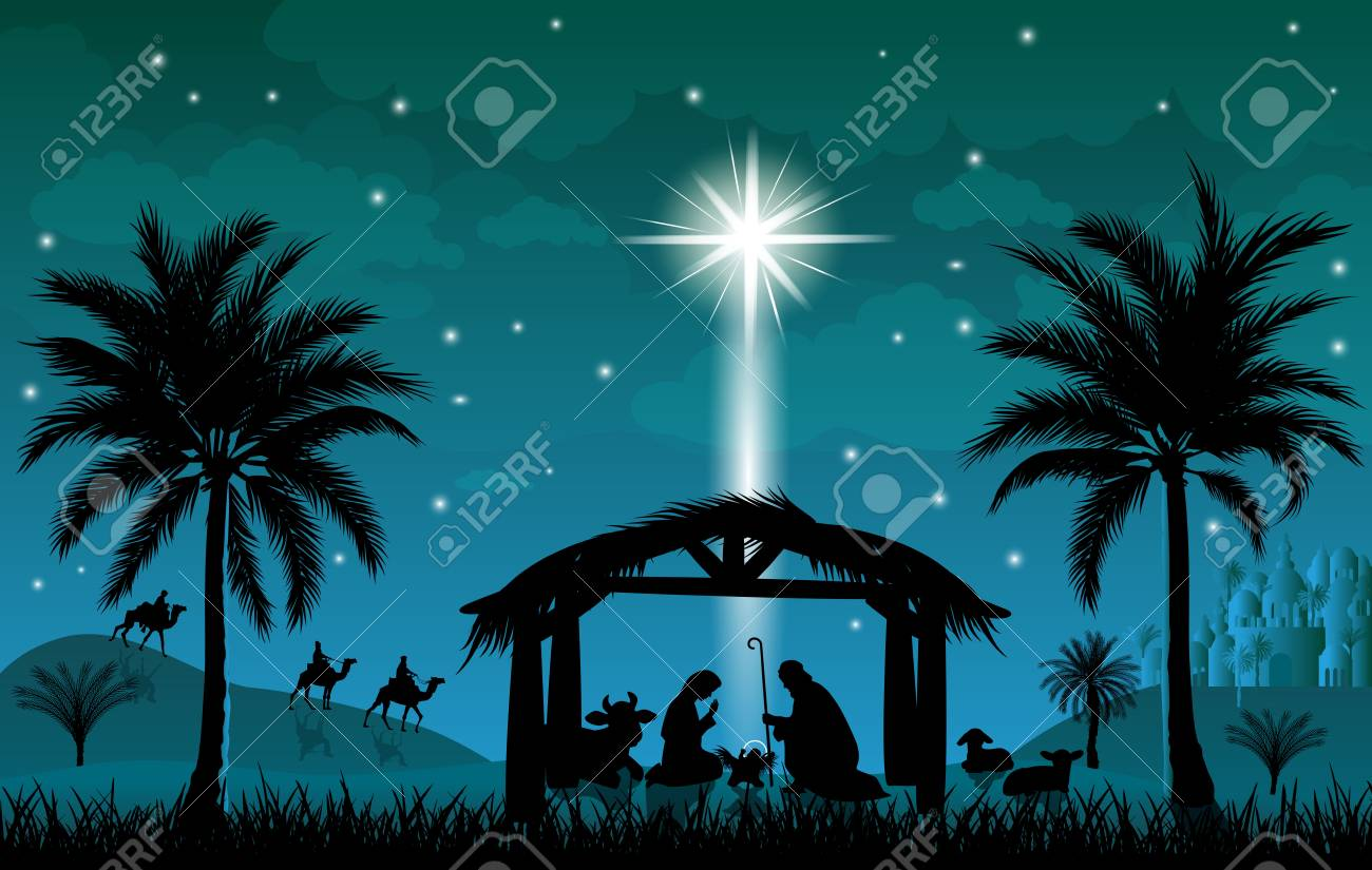 Jesus Christmas Pic.Scene Of The Nativity Of Jesus Christ Christmas The Scene Of
