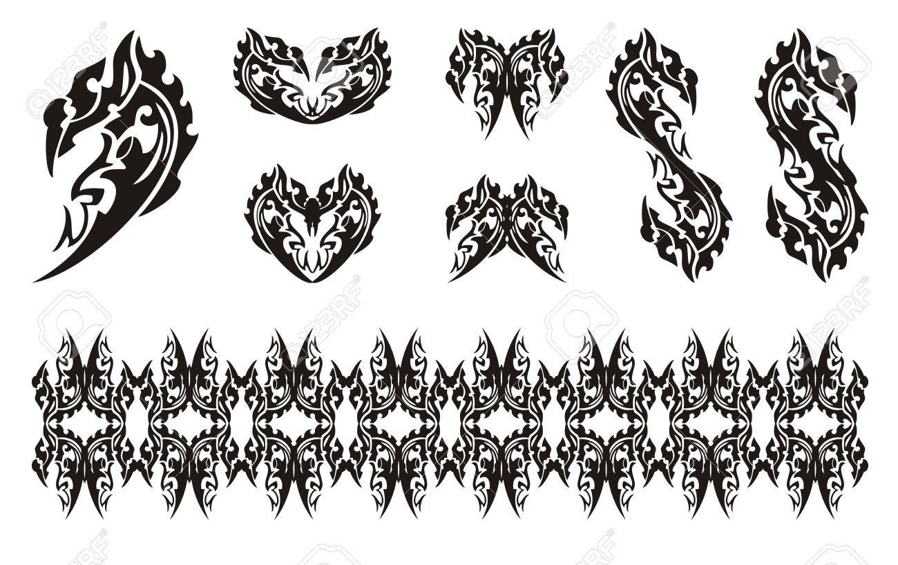Black dragon head symbols in tribal style dollar dragon form black dragon head symbols in tribal style dollar dragon form dragon hearts dragon buycottarizona Gallery