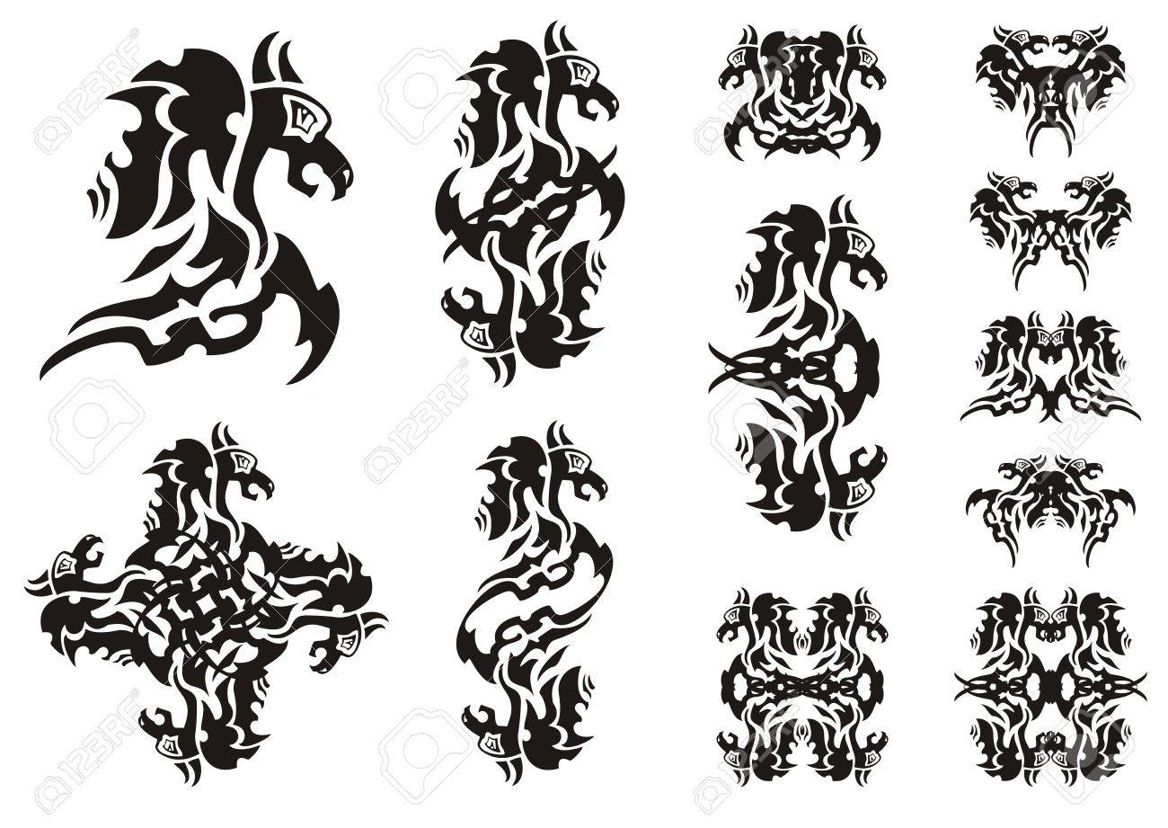 Flaming winged dragon symbols double symbols of a dragon a flaming winged dragon symbols double symbols of a dragon a butterfly of a dragon biocorpaavc Image collections