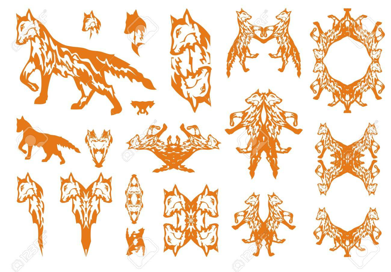 Tribal Red Fox Symbols Big Collection Of Symbols Of The Going