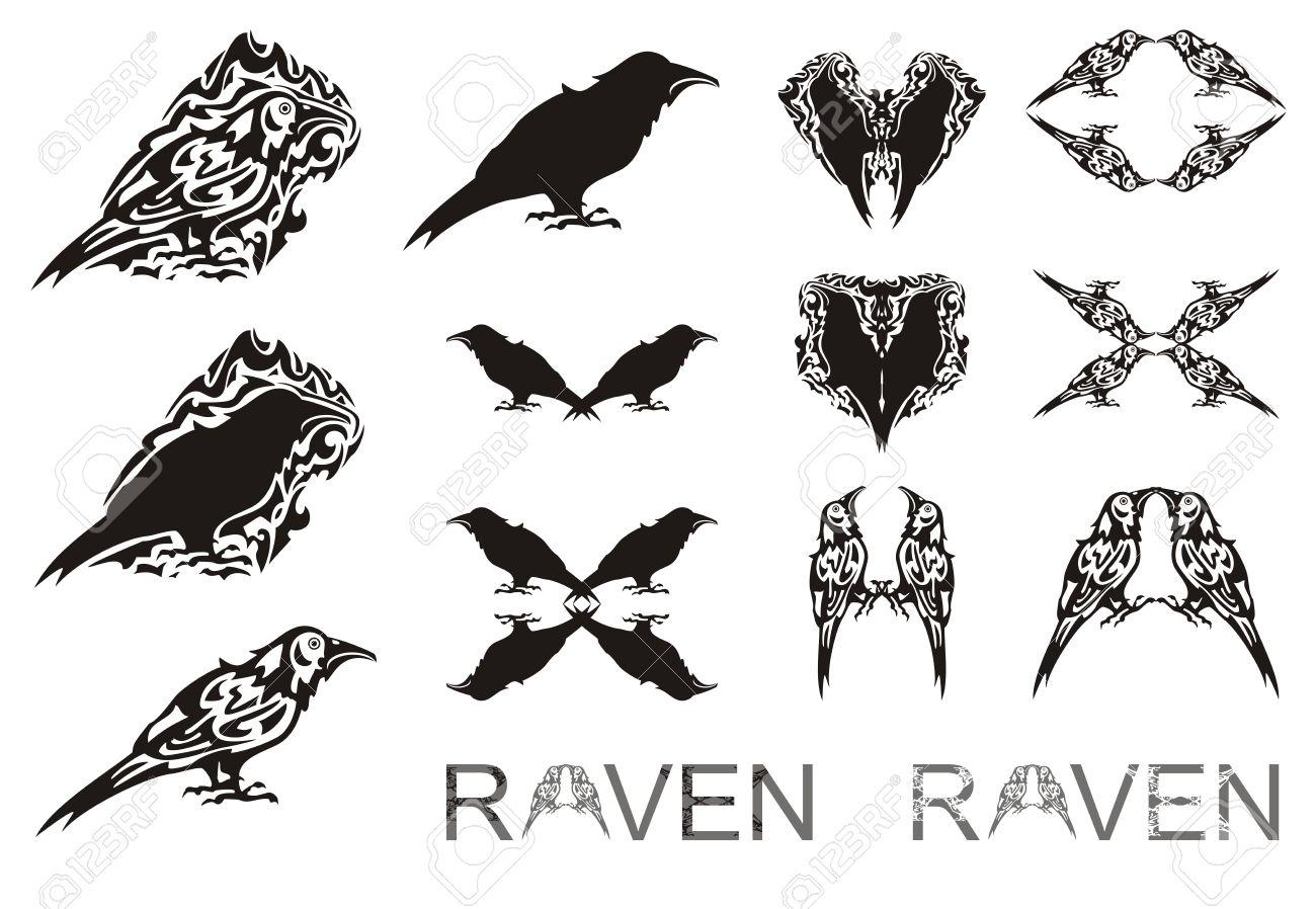 Tribal raven symbols the stylized raven symbols raven silhouette tribal raven symbols the stylized raven symbols raven silhouette writing of a raven buycottarizona Gallery