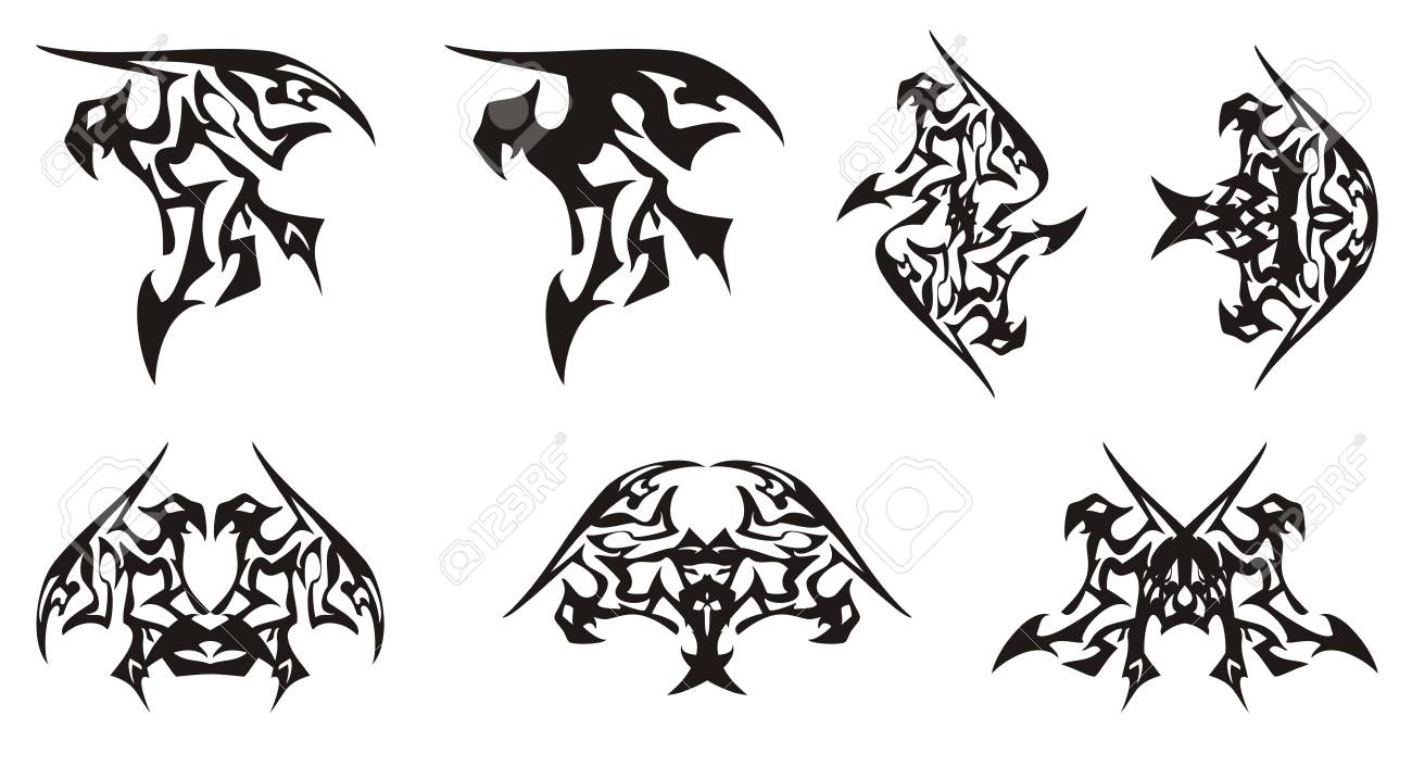 tribal eagle symbols in the dragon form eagle symbol similar