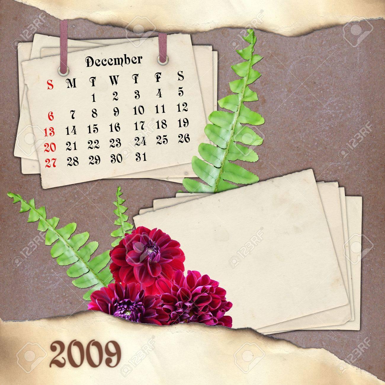 Calendrier Scrapbooking.Le Mois De Decembre Page De Calendrier En Scrapbooking Style
