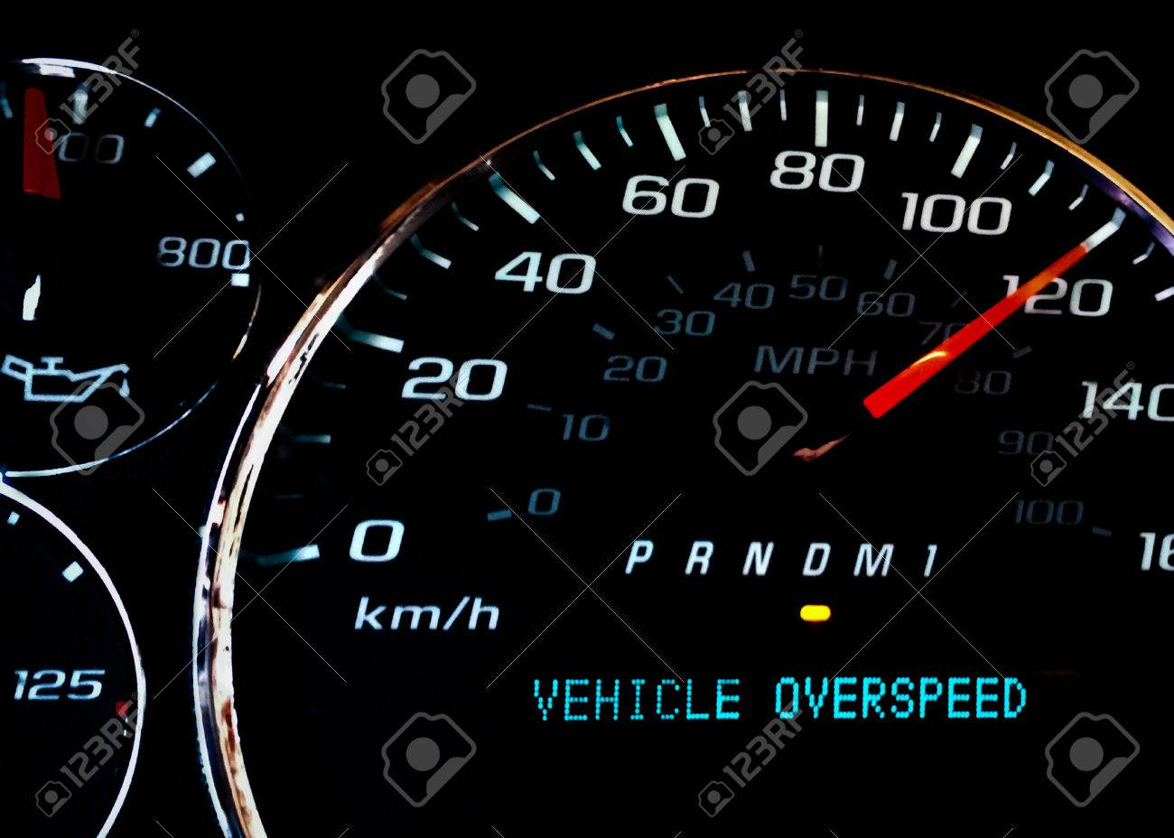 Vehicle Over Speed Dashboard Warning Light Stock Photo Picture - Car image sign of dashboarddashboard warning lights stock images royaltyfree images