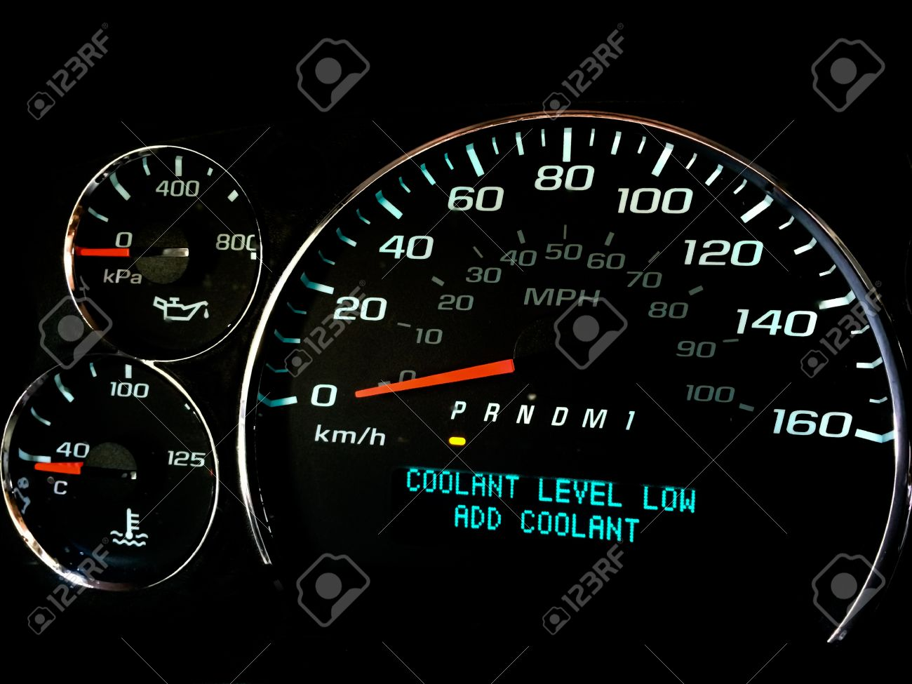 Coolant Level Low Warning Light On Dashboard Stock Photo Picture - Car image sign of dashboarddashboard warning lights stock images royaltyfree images
