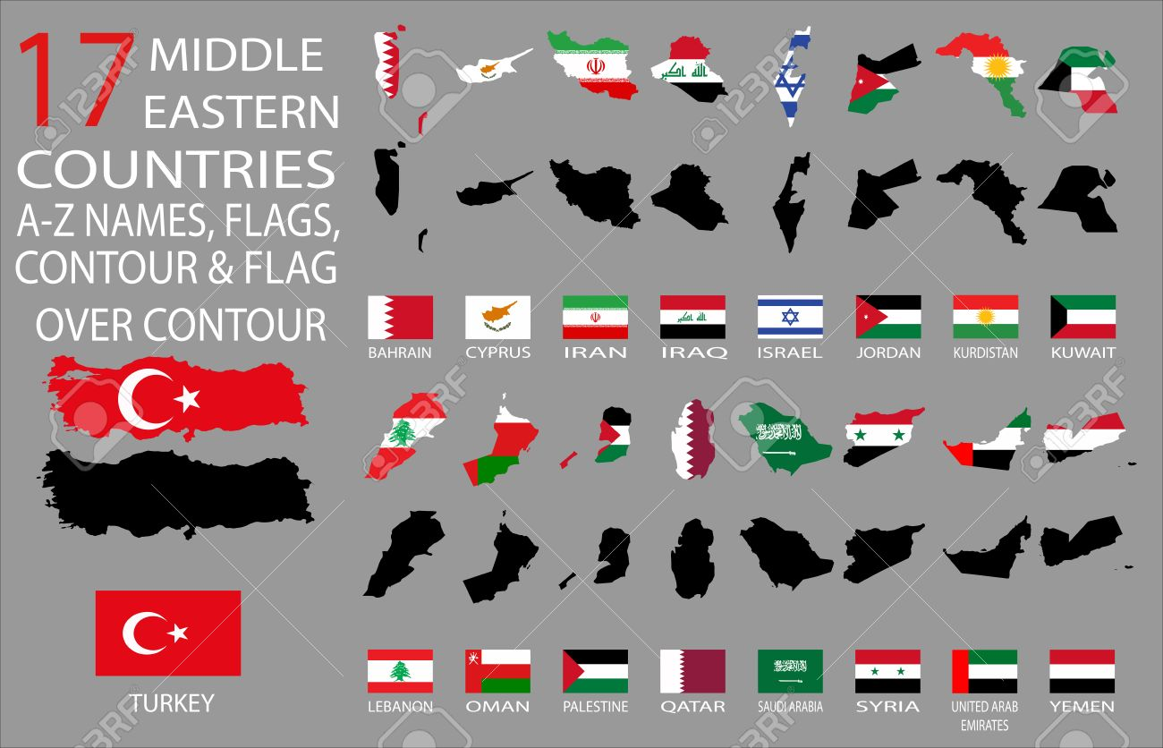 17 Middle Eastern countries A Z Names