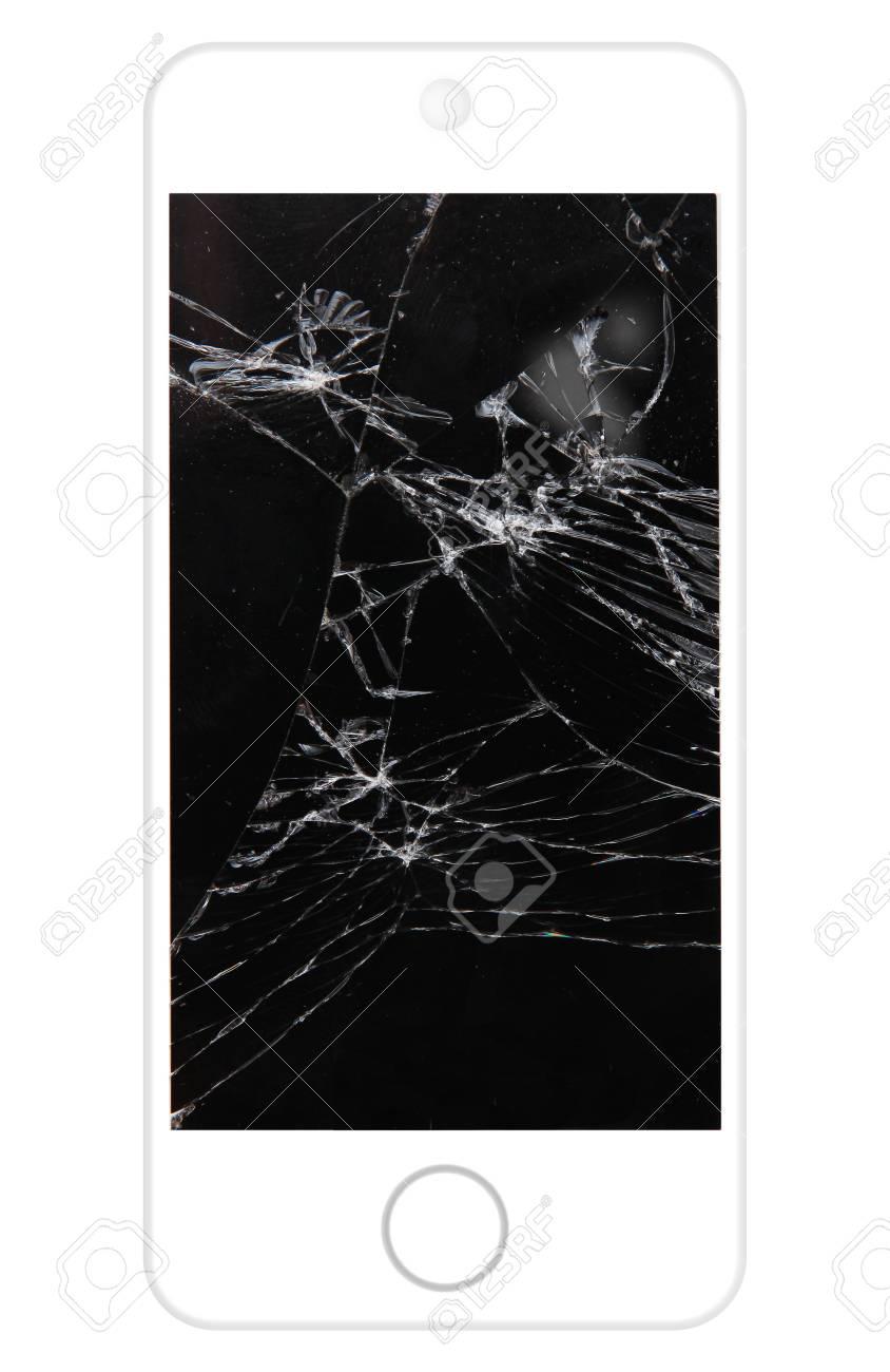 Téléphone Portable Blanc Cassé Avec De L écran Banque D Images Et Photos Libres De Droits Image 43542686
