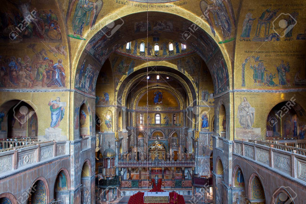 Interior Of Basilica San Marco Stock Photo, Picture And Royalty Free ...