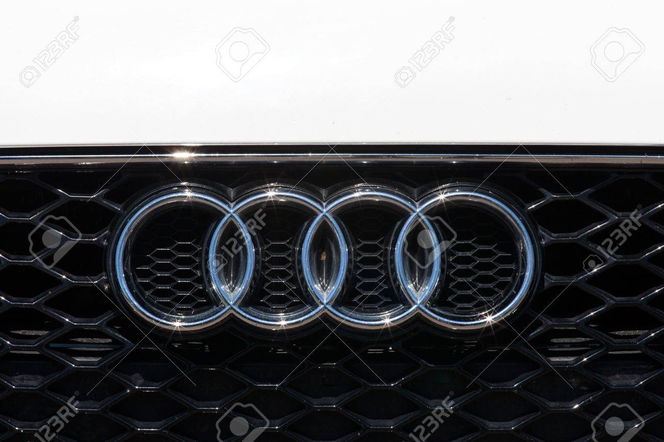 Audi Emblem And Front Grill Stock Photo Picture And Royalty Free