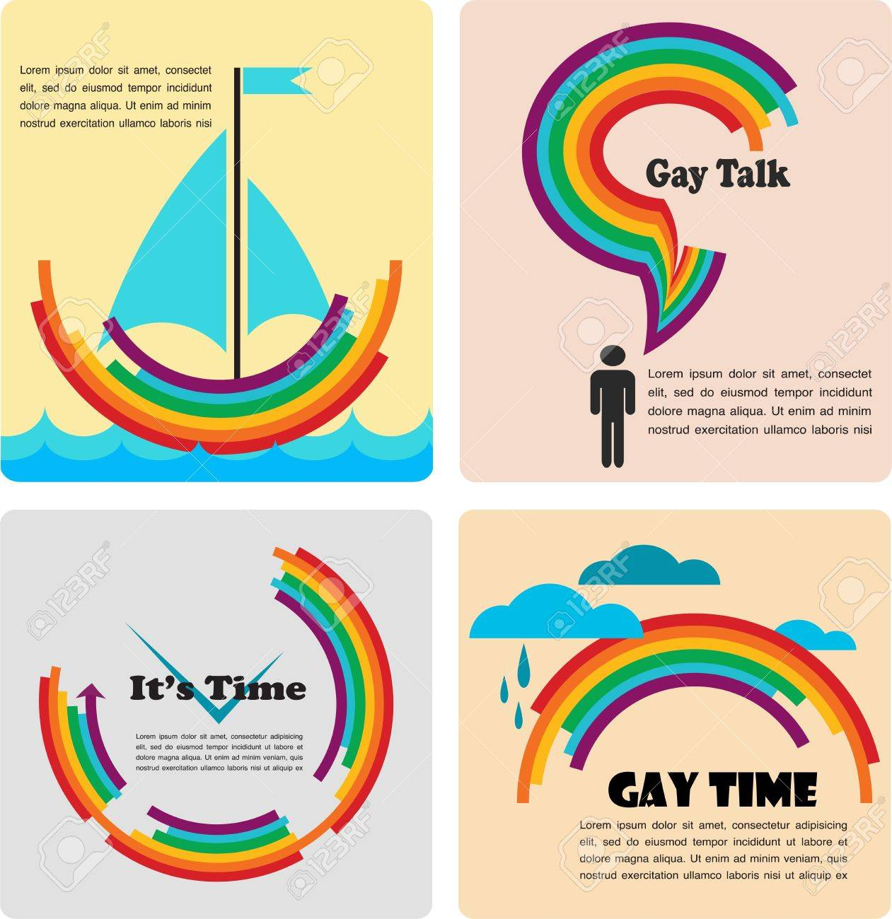four gay icons, infographics Stock Vector - 19743036